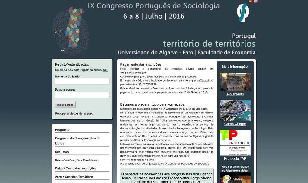 Associação Portuguesa de Sociologia - Congresso Português de Sociologia